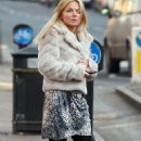 Geri Halliwell in dress/leggings out in London candids - Jan 30, 2011