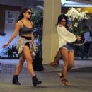 Vanessa and Stella Hudgens Leaving A Hospital In Los Angeles