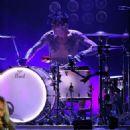 Mötley Crüe performs at Verizon Wireless Amphitheater in Alpharetta, Georgia on August 16, 2014