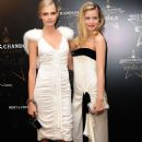 Georgia May Jagger, Clara Paget and Cara Delevigne attend the Moet & Chandon Etoile award ceremony to honour Mario Testino for his contribution to cultural society at Park Lane Hotel on September 19, 2011 in London, England