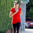 Nikki Reed and husband, Paul McDonald running in Studo City, CA (July 10)