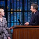 Kiernan Shipka on 'Late Night with Seth Meyers' in New York City