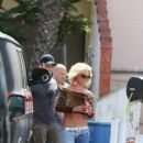Britney Spears is seen on her location filming her music video in Studio City CA April 10, 2015