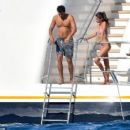 Victoria's Secret stunner Sara Sampaio flaunts her bikini body as she cosies up to boyfriend Oliver Ripley on £85million superyacht in St. Tropez - 454 x 259
