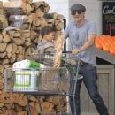 Olivier Martinez and his son Maceo are spotted out grocery shopping at Bristol Farms in West Hollywood, California on April 10, 2016