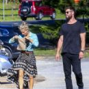 Elsa Pataky and Chris Hemsworth– Out in Byron Bay, Australia 07/04/2016