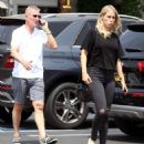 Claire Holt with her family out to lunch in West Hollywood - 454 x 504
