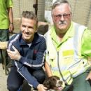 David Beckham meeting Olympic Security Personnel (August 10)