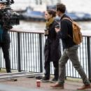 Charlotte Riley – Filming 'Press' set in London - 454 x 303