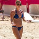 Coleen Rooney in Blue Bikini at Sandy Lane Beach in Barbados - 454 x 690