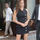 Jennifer Garner in Black Mini Dress – Leaves her hotel in New York - 454 x 682