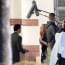 Mandy Moore – On the set of 'This Is Us' in Pasadena - 454 x 552