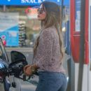Delta Goodrem at a gas station in Los Angeles - 454 x 681