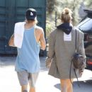 Hailey Baldwin and Justin Bieber – Heads out for a lunch in Studio City