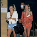 Josie Canseco with a friend out for dinner at Nobu