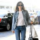 Emmy Rossum – Arrives at LAX Airport in LA - 454 x 668