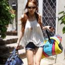 Lindsay Lohan Leaving Samantha Ronson's House In Los Angeles, 2009-06-25