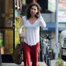 Minnie Driver stops by a nail salon in Los Feliz, California on January 6, 2014