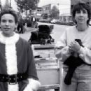Jonathan Taylor Thomas and director Arlene Sanford on the set of Disney's I'll Be Home For Christmas - 1998