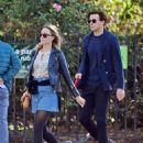 Saoirse Ronan and Jack Lowden – Out for a stroll and breakfast in London - 454 x 580