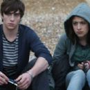 Aaron Johnson as Robbie and Georgia Groome as Georgia in comedy drama 'Angus, Thongs and Perfect Snogging.'