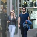 Elizabeth Olsen and Robbie Arnette at the ArcLight in Hollywood