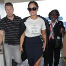 Demi Lovato Arriving at LAX airport in Los Angeles