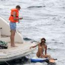 Ann-Kathrin Brommel and Anna Sharypova in Bikini on holiday in Mallorca - 454 x 300
