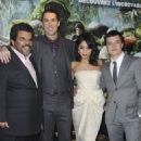Vanessa Hudgens and Josh Hutcherson premiered their new film Journey 2: The Mysterious Island in Paris, February 11
