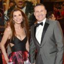 Cristina Bernal and Alan Tacher- Univision's 28th Edition of Premio Lo Nuestro A La Musica Latina - Arrivals - 399 x 600