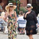 Kris Jenner in Black Dress on holiday on Portofino - 454 x 604