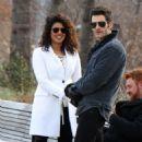 Priyanka Chopra – Filming 'Quantico' set in New York - 454 x 771