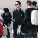 Katy Perry Arrives At Le Bourget Airport In Paris