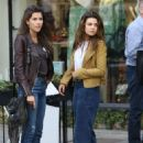 Danielle Campbell at a local cafe in West Hollywood