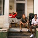 "The Southside Boys, left to right: Jason Weaver as Teddy, Albert Daniels as Brooklyn, TIP ""T.I."" Harris as Rashad, and Jackie Long as 'Esquire' appear in Warner Bros. Pictures' music-driven coming of age story, ATL. - 454 x 302"