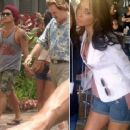 Bruno Mars and Jessica Caban In Hawaii In July 2011.