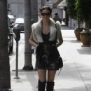 Emmy Rossum - Picking Up Lunch At Judi's Deli In Beverly Hills - September 30, 2010