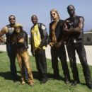 (Left to right) Laurence Fisburne, Lisa Bonet, Derek Luke, Kid Rock and Djimon Hounsou star as fierce competitors in the motorcycle racing underground