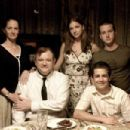 Melissa Leo as Margaret McKay, Brendan Gleeson as Desmond, Emily VanCamp as Kathleen, Michael Angarano as Cole and Tom Guiry as Terry in Black Irish.