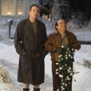 Warring neighbors Steve Finch (Matthew Broderick) and Buddy Hall (Danny DeVito)reach an uneasy truce in DECK THE HALLS, a family comedy about one-upsmanship, jealousy, clashing neighbors, home decoration...and the true spirit of the holidays. Photo credit