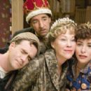 Christopher Moynihan as Brian Chubb, Harry Shearer as Victor Allan Miller, Catherine O'Hara as Marilyn Hack and Parker Posey as Callie Webb in director Christopher Guest's For Your Consideration. Photo credit: Suzanne Tenner © 2006 Shangri-La