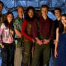 The Crew of Serenity - Jayne (Adam Baldwin), Kaylee (Jewel Staite), Wash (Alan Tudyk), Zoe (Gina Torres), Captain Mal Reynolds (Nathan Fillion), Dr. Simon Tam (Sean Maher) and River Tam (Summer Glau).