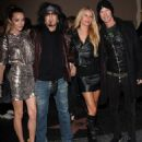 The Rock Wives of Beverly Hills! Nikki and Courtney are joined by former Guns N'Roses member Duff McKagan and his model wife Susan Holmes at the benefit gig - 454 x 522