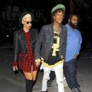 Amber Rose and Wiz Khalifa at the Jay Z Concert at the Staples Center in Los Angeles, California - December 9, 2013 - 454 x 610