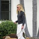 Portia De Rossi – Seen whith her three dogs Augie, Mabel, and Kid in Montecito