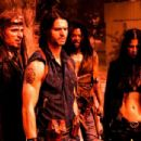 The SKINWALKERS are Zo (Kim Coates), Varek (Jason Behr) and Grenier (Rogue Johnston) and Sonya (Natassia Malthe). Photo credit: Steve Wilkie.