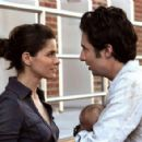 Amanda Peet and Zach Braff star in Jesse Peretz's The Ex. Photo by: Demmie Todd. Courtesy of The Weinstein Company.