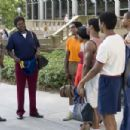 Jim Ellis (Terence Howard) and Elston (Bernie Mac) with the P.D.R. swimteam in PRIDE. Photo credit: Saeed Adyani