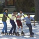 Rick Gonzalez, Khleo Thomas, Marcus T. Paulk, Brandon T. Jackson and Bow Wow in Fox Searchlight's drama Roll Bounce.