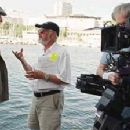 Michael Caine and director Norman Jewison on the set of The Statement - 2003 - 390 x 224